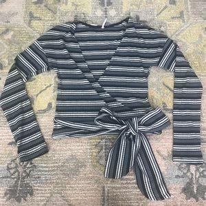 Free People mock wrap top